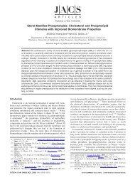 Sterol-Modified Phospholipids: Cholesterol and Phospholipid ...