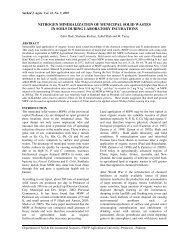 nitrogen mineralization of municipal solid wastes in soils - N.W.F.P ...