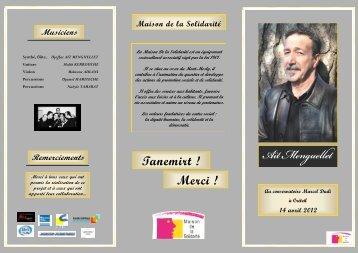 Programme Concert - Maison De La Solidarité