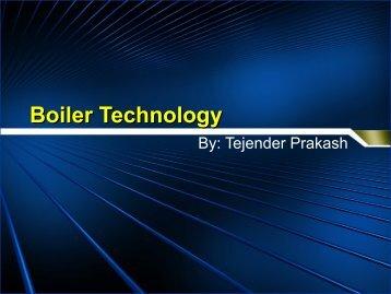 Boiler Technology - 123SeminarsOnly