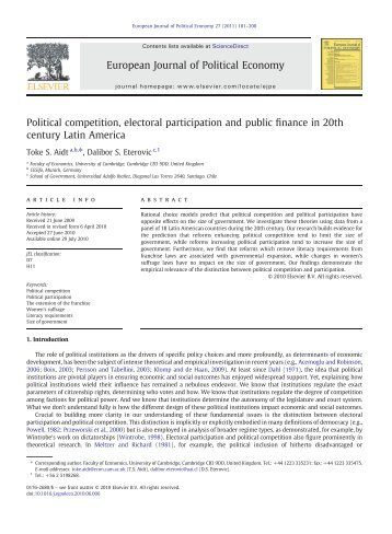 Ideological Viewpoints In Public Finance