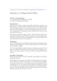 Biographie von Philipp Friedrich Hiller