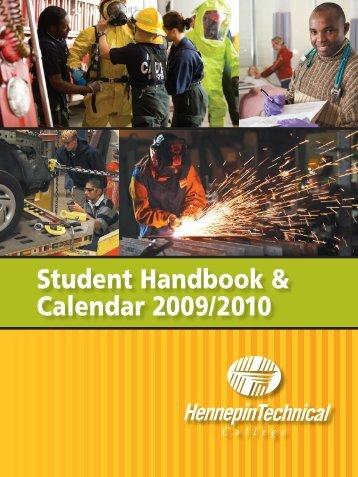 Student Handbook & Calendar 2009/2010 - Hennepin Technical ...