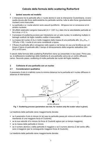 Calcolo della formula dello scattering Rutherford