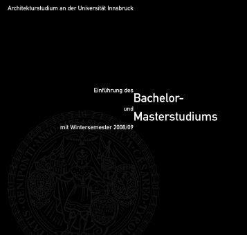 Bachelor- Masterstudiums