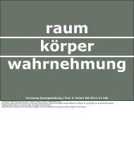 Vorlesung Raumgestaltung   Prof. G. Seifert WS 2011/12 #06