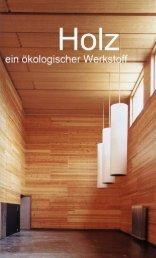 Page 1 Page 2 Page 3 Holz, ein ökologischer Werkstoff 1. Das ...