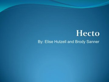 By: Elise Hutzell and Brody Sanner