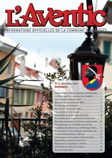 décembre 2012 - Commune Avenches