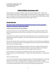 PRESS CLIPPINGS- 14-16 January, 2012 - UN Women