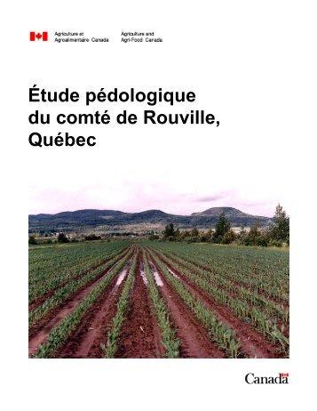 Étude pédologique du comté de Rouville, Québec - IRDA