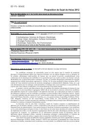 Proposition de Sujet de thèse 2012 - LEGOS