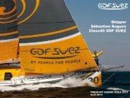 Découvrir Sébastien Rogues skipper du Class40 GDF SUEZ