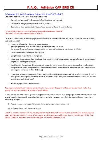 Pourquoi l'obligation d'une VHF pour les sorties dites ... - CAP Breizh