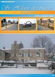 Bulletin janvier 2013 - Commune de Saint Hilaire des Loges