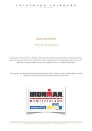 Mon Ironman - Triathlon Fribourg