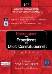le programme du VIIème Congrès Mondial de l ... - Enelsyn.gr