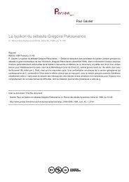 Le typikon du sébaste Grégoire Pakourianos - Bibliotheca Pretiosa
