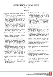 GREEK EPIGRAPHICAL INDEX - The American School of Classical ...
