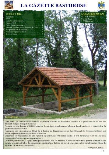 Gazette juillet 2012 - Labastide-Murat