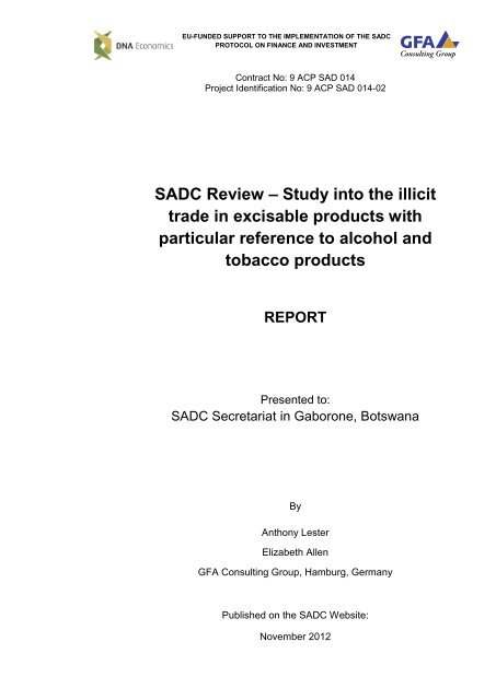 Official sadc trade industry and investment review kyle alexander capstone investments