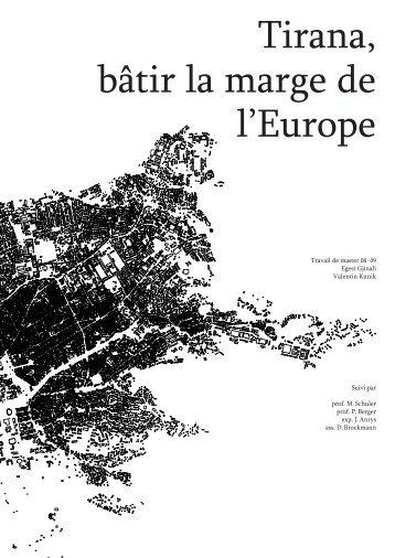 Tirana, bâtir la marge de l'Europe - EPFL
