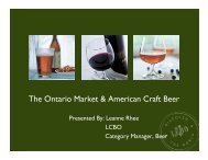 The Ontario Market & American Craft Beer - Brewers Association