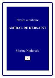 Navire auxiliaire AMIRAL DE KERSAINT Marine Nationale
