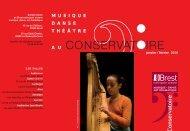 Musique, danse, théâtre au Conservatoire - Brest métropole océane