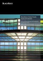 BlackRock Global Funds Fonds Dividendes