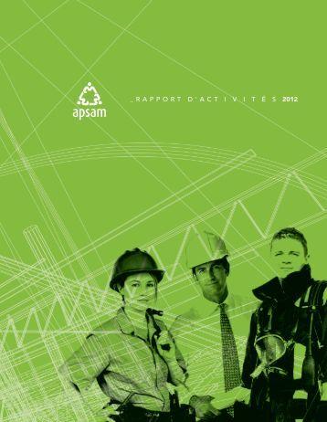 Rapport d'activités 2012 - Apsam