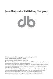 Prosodie et acquisition de la langue des signes ... - John Benjamins
