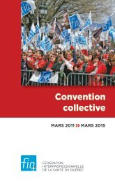 FIQ - Convention collective 2011-2015