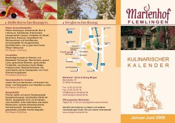 Januar-Juni 2009 - Wein- und Sektgut Marienhof