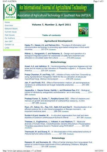 Volume 7, Number 2, April 2011 Page 1 of 3 IJAT-AATSEA 18/5 ...