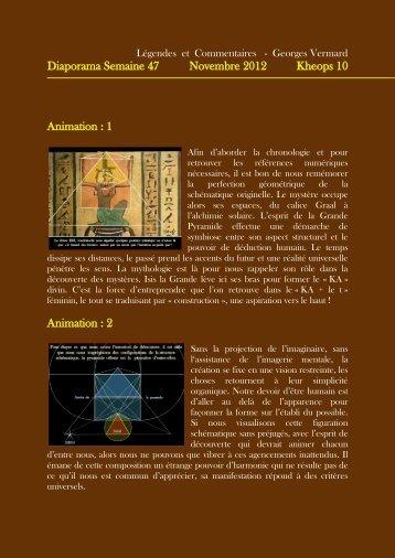 Diaporama Semaine 47 Novembre 2012 Kheops 10 - Horizon 444