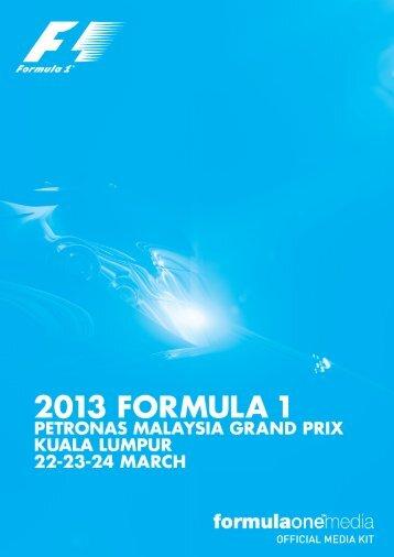 2013 formula one petronas malaysia grand prix