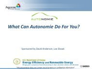 What Can Autonomie Do For You?