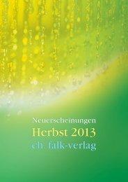 Neuerscheinungen Herbst 2013