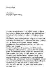 Christa Falk »Komm...« Begegnung mit Babaji Ich hab ...