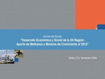 """Informe del Estudio """"Desarrollo Económico y Social de la XII Región ..."""