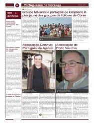 Portugueses na Córsega Groupe folklorique portugais de Propriano ...