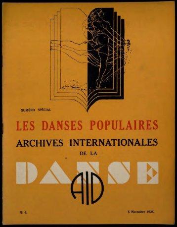 les danses populaires - Médiathèque du Centre national de la danse