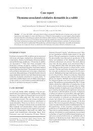 Case report Thymoma-associated exfoliative dermatitis ... - Medirabbit