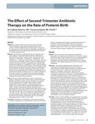 The Effect of Second-Trimester Antibiotic Therapy on the Rate - JOGC