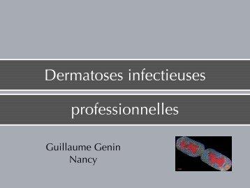 Dermatoses infectieuses professionnelles - Formation Médecine du ...