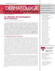 Les Maladies Dermatologiques de la Grossesse - Dermatologie ...
