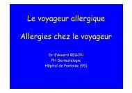 Le voyageur allergique Allergies chez le voyageur