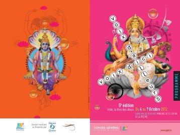 Télécharcher le programme 2012 en PDF - Doulce Mémoire