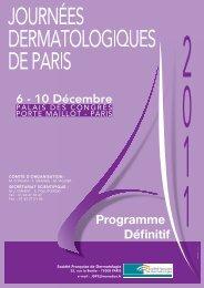 Programme Définitif - JDP 2011
